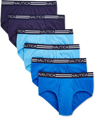 Nautica Men 6-Pk. Cotton Briefs