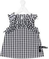 Simonetta ruched gingham dress