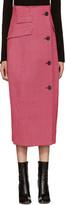 Yang Li Pink Houndstooth Coat Skirt