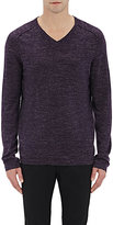Vince MEN'S V-NECK SWEATER-PURPLE SIZE XL