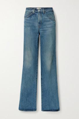 Nili Lotan Celia High-rise Straight-leg Jeans - Mid denim