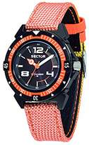 Sector No Limits Expander 90 Men's Quartz Watch with Black Dial Analogue Display and Orange Nylon Strap R3251197049