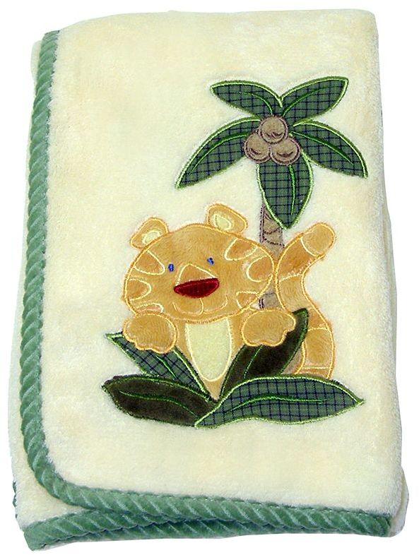 NoJo Jungle Babies Coral Blanket
