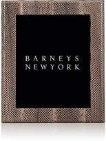 "Barneys New York Studio Python-Embossed Leather 8"" x 10"" Picture Frame"