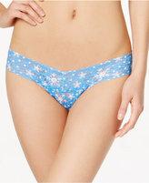 Hanky Panky Snowflake Sheer Lace Low-Rise Thong 5L1586