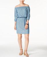 Calvin Klein Jeans Off-The-Shoulder Denim Dress