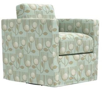 Latitude Run Krogman Swivel Club Chair Fabric: Sky Blue Modern Tulip
