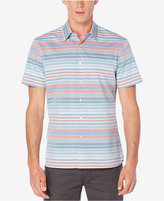 Perry Ellis Men's Striped Cotton Short-Sleeve Shirt