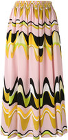 Emilio Pucci triangle printed midi skirt - women - Silk - 38