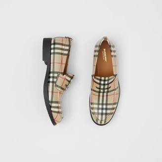 Burberry D-ring Detail Vintage Check Leather Loafers