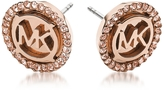 Michael Kors Heritage PVD Rose Goldtone Stainless Earrings w/Crystals