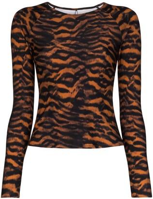 The Upside Imogen tiger print rashie top