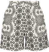 Topshop Cleary Broderie Anglaise Cotton Shorts - Off-white