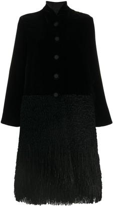 Giorgio Armani Velvet Single-Breasted Coat