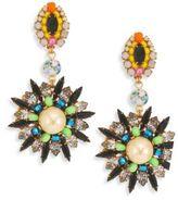 Erickson Beamon Safari Faux Pearl & Crystal Drop Earrings