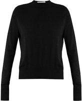 Raey Ribbed-shoulder silk and cashmere-blend sweater