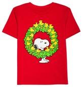 Peanuts Baby Boys' Woodstock Wreath Short Sleeve T-Shirt - Red Heather