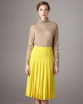 Chloé Pleated Silk Crepe Skirt