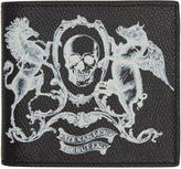 Alexander McQueen Black coat Of Arms Bifold Wallet