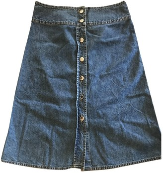 Valentino Red Blue Cotton Skirt for Women