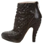 Christian Dior Embossed Ankle Boots