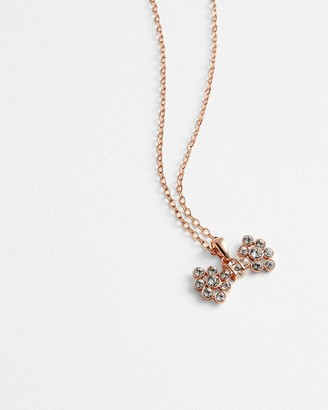 Ted Baker BRIZLA Crystal bow pendant