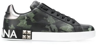 Dolce & Gabbana printed low-top trainers