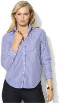 Lauren Ralph Lauren Plus Size Wrinkle-Free Bengal-Striped Dress Shirt