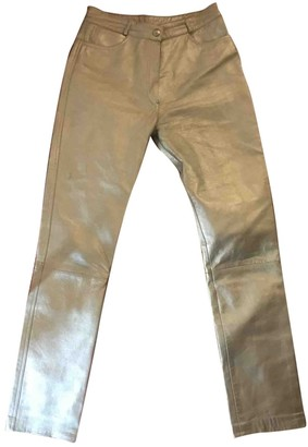 Jitrois Silver Leather Trousers