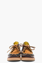 Yuketen Brown colorblocked leather handmade Maine Guide Chukkas