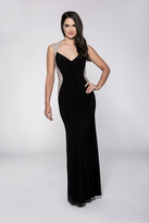 Cachet Crystal Crusted Jersey Gown 57410
