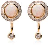 Pamela Love 18k yellow gold Gravitation opal earrings