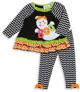 Rare Editions Girls 2-6x Boo Top and Leggings Set