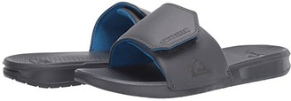 Quiksilver Bright Coast Adjustable Slides (Black/White/Black) Men's Sandals