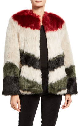 Frame Mixed Faux-Fur Chubby Coat