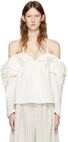 J.W.Anderson Off-white Off-the-shoulder Top