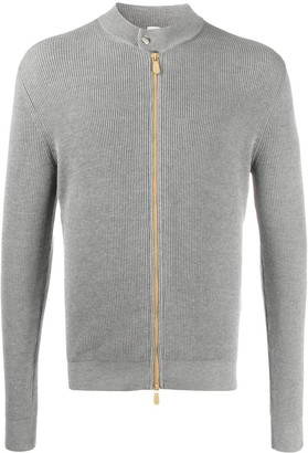 Eleventy Zip-Up Ribbed Cardigan