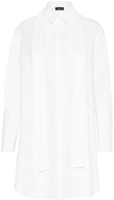 Akris Silk Poplin Sash Shirtdress