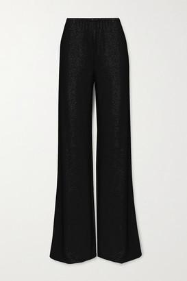 Alexandre Vauthier Crystal-embellished Stretch-jersey Wide-leg Pants - Black