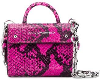 Karl Lagerfeld Paris K/Ikon snakeskin-effect tote bag