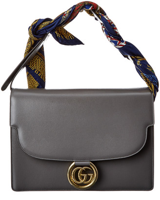 Gucci Scarf Medium Leather Shoulder Bag