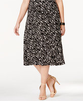 JM Collection Plus Size Jacquard Midi Skirt, Only at Macy's