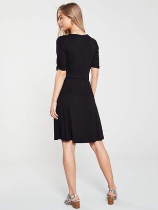 Very Shirred Detail Jersey Dress - Black
