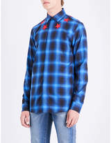 Givenchy Checked Star-embroidered Slim-fit Shirt