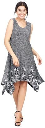 M&Co Izabel Curve baroque hanky hem dress