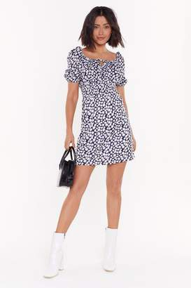 Nasty Gal Womens Leave Her Wild Daisy Mini Dress - navy - 8