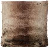 Linea Brown stripe faux fur cushion