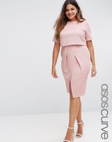 Asos Double Layer Textured Wiggle Dress