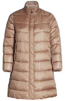Marina Rinaldi, Plus Size Petalo Quilted Longline Coat