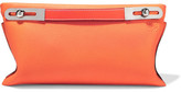 Loewe Missy Small Textured-leather Clutch - Orange